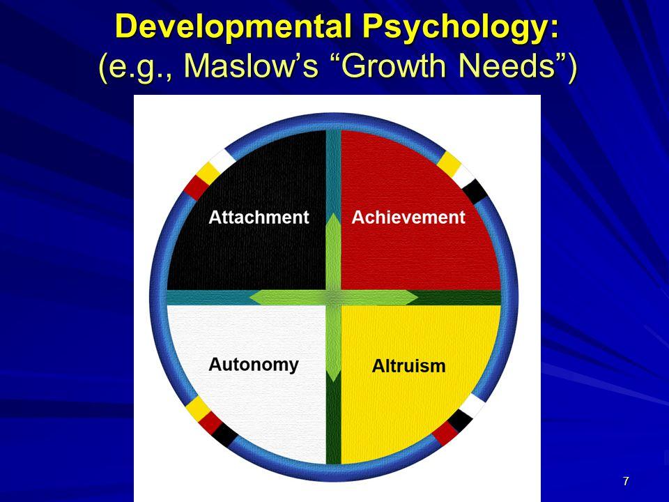 7 Developmental Psychology: (e.g., Maslow's Growth Needs )