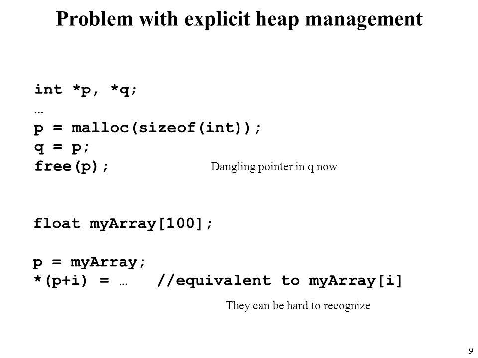 40 Mark-Sweep Example Returned to free list