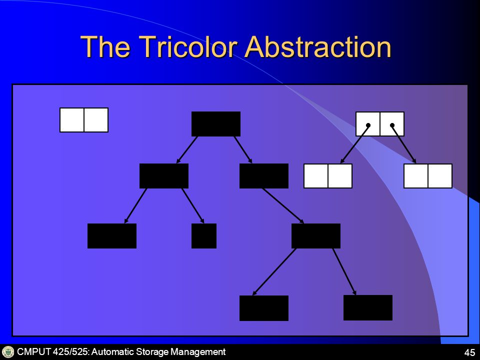 CMPUT 425/525: Automatic Storage Management 45 The Tricolor Abstraction
