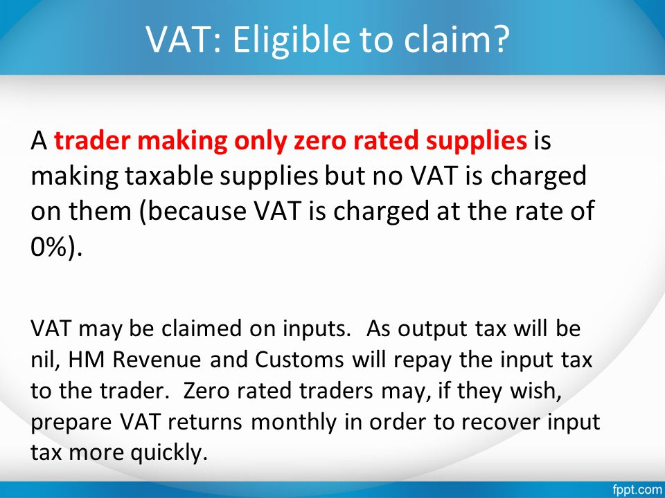 VAT: Eligible to claim.