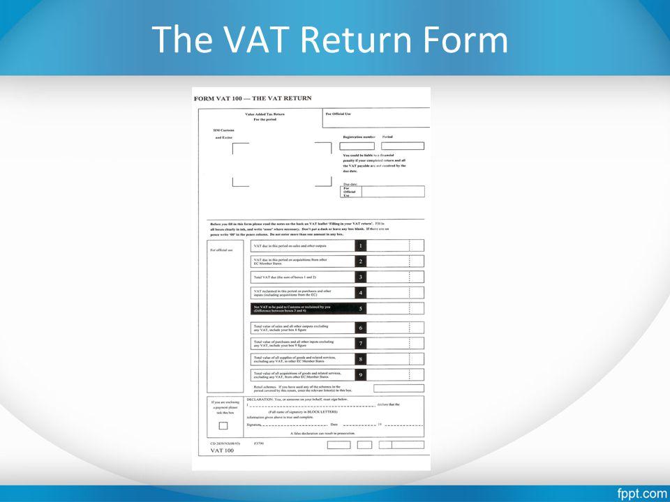 The VAT Return Form