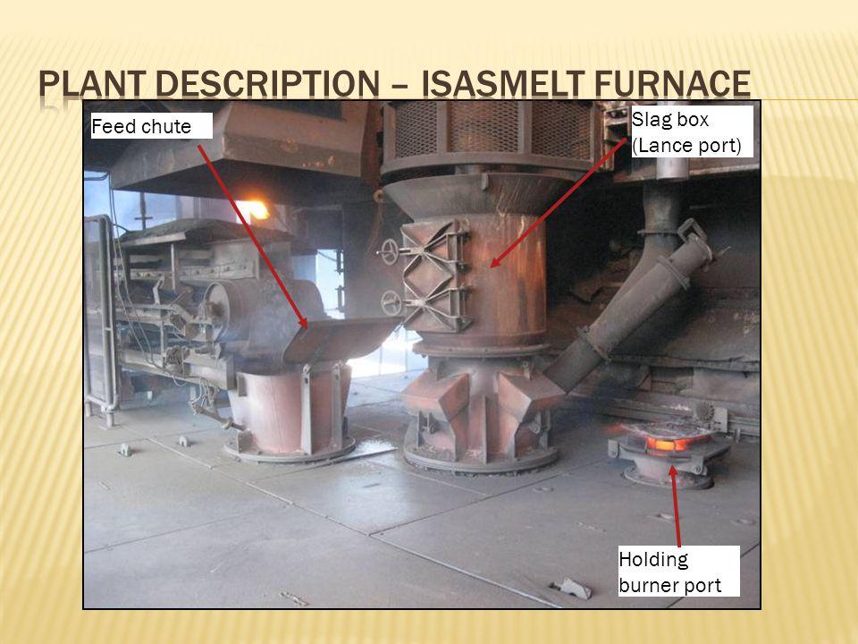 Feed chute Slag box (Lance port) Holding burner port