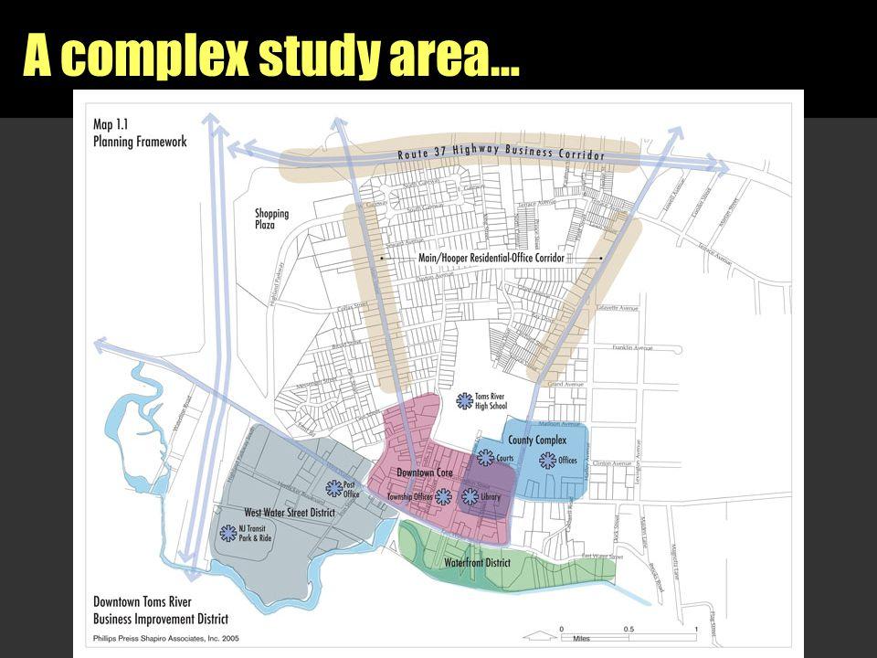 A complex study area… [insert study area map]