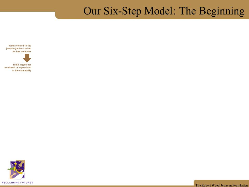 The Robert Wood Johnson Foundation Our Six-Step Model: The Beginning