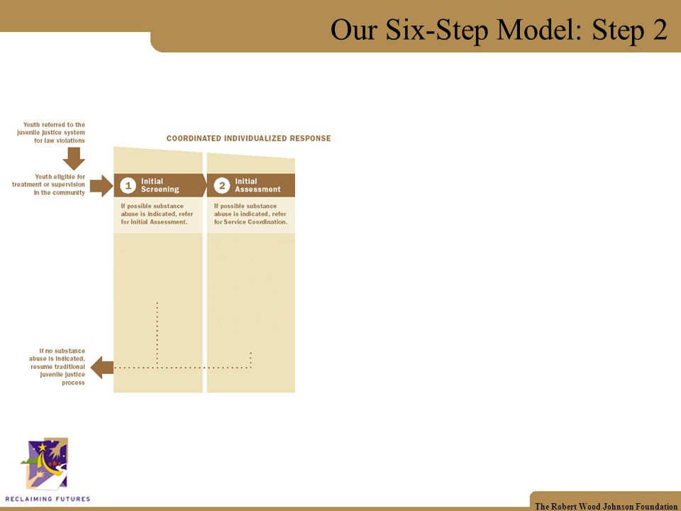 The Robert Wood Johnson Foundation Our Six-Step Model: Step 3
