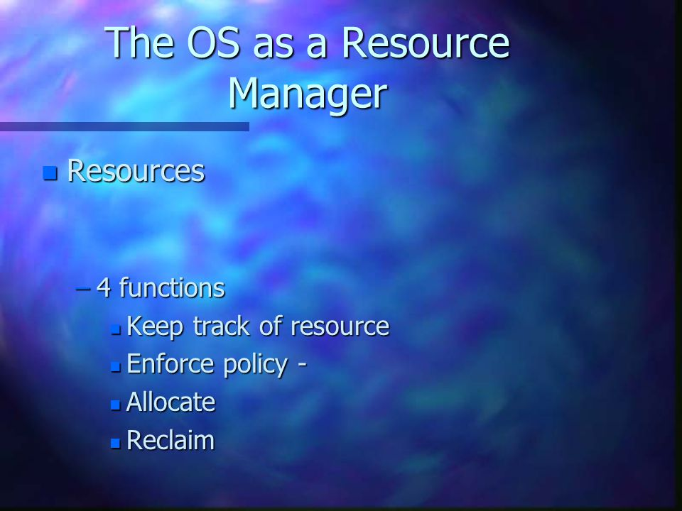 Processor Management and Scheduling Processor Management and Scheduling n 1.
