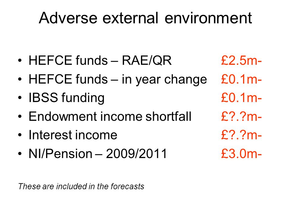 Known unknowns – 2010 to 2015 HEFCE Fees review - fees Fees review – substitution.