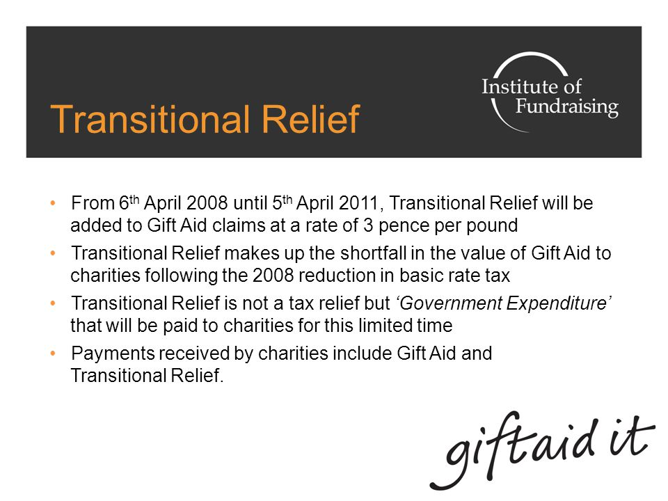 Gift Aid and Higher Rate Tax Payers Higher rate taxpayers can reclaim the difference between the higher rate (40%) and basic rate tax (20%) on donations For the 50% tax rate, the reclaim will be the difference between taxpayers' highest rate (50%) and basic rate (20%) On the SA100 Charity form, donors can give any rebate to one charity of their choice For a charity to benefit from this, they must register separately with HMRC for a SA Donate reference number.