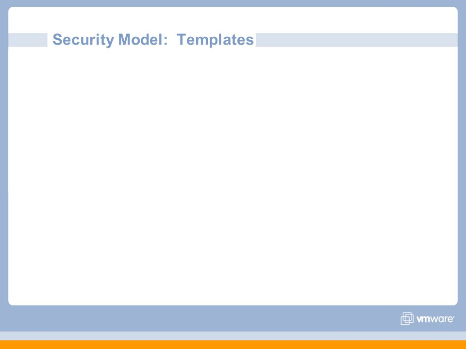 Security Model: Templates