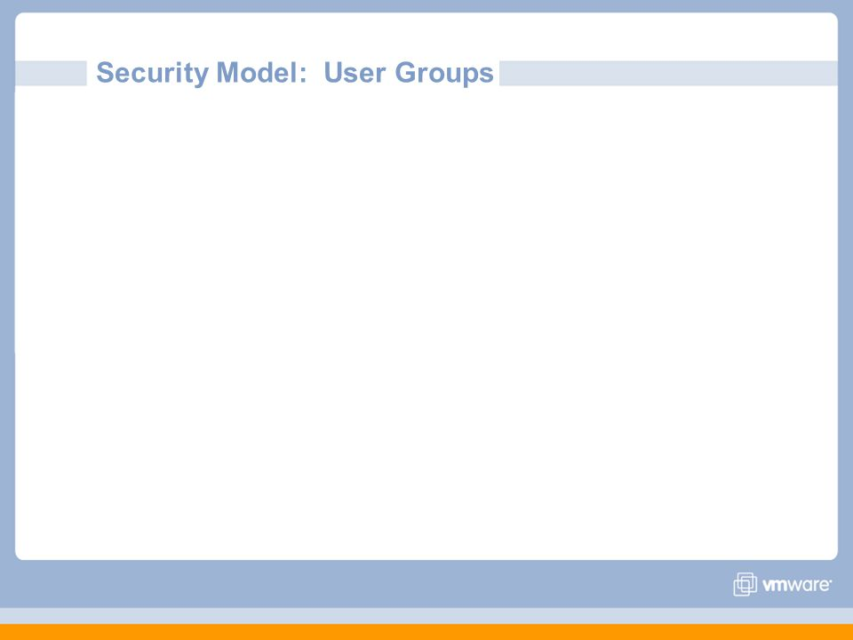 Security Model: User Groups