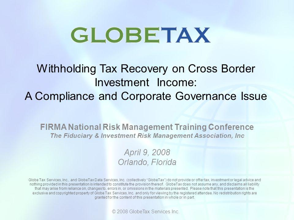 Q & A © 2008 GlobeTax Services Inc.