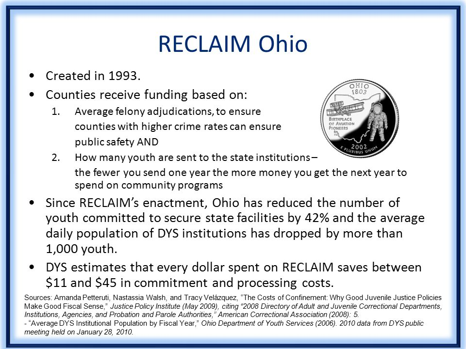RECLAIM Ohio Created in 1993.
