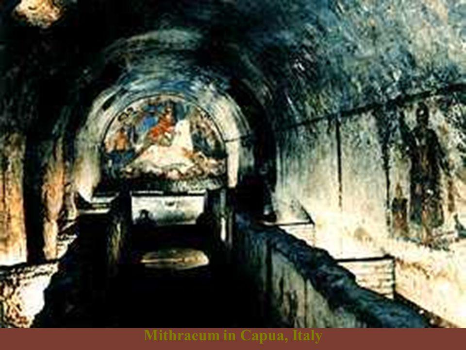 Underground Mithraic temple in Rome