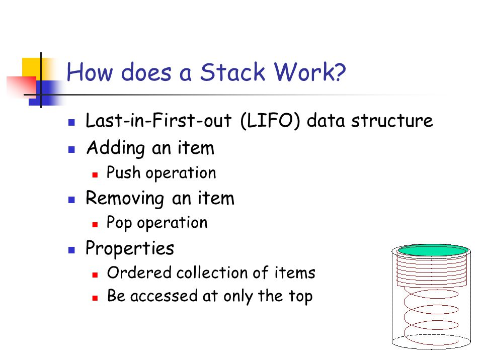 How does a Stack Work.