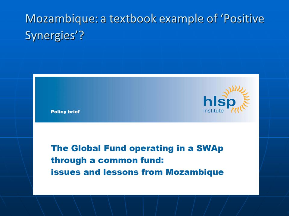 Mozambique: a textbook example of 'Positive Synergies'
