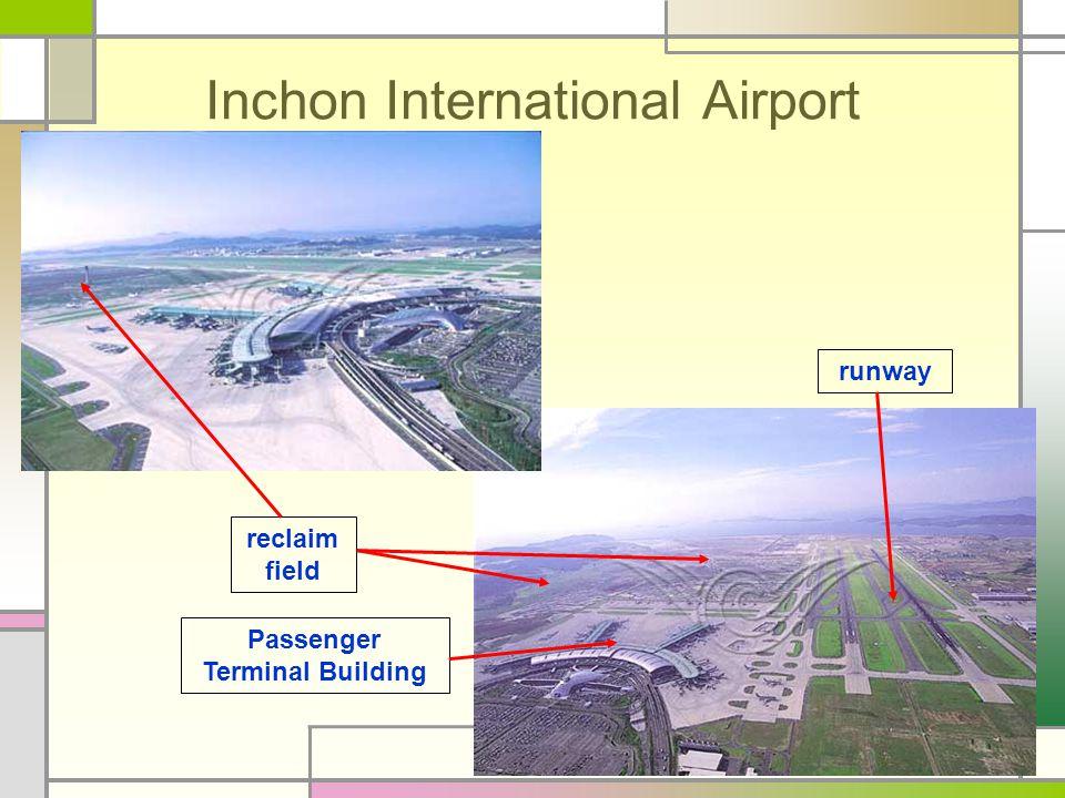 Inchon International Airport reclaim field Passenger Terminal Building runway