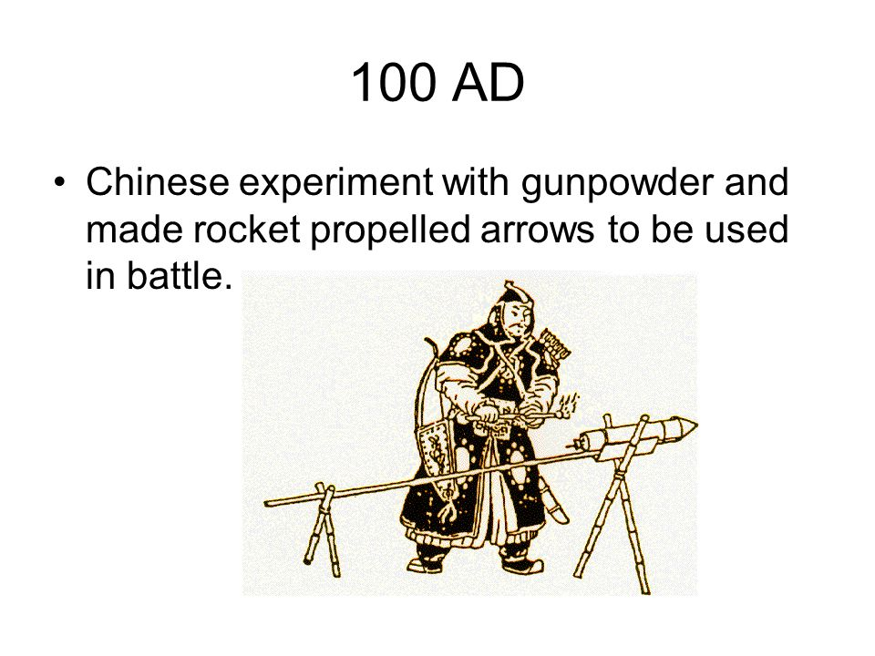 1231 Chinese Mongol War Chinese used rockets against the Mongols who were besieging the city of Kai-fung-fu.