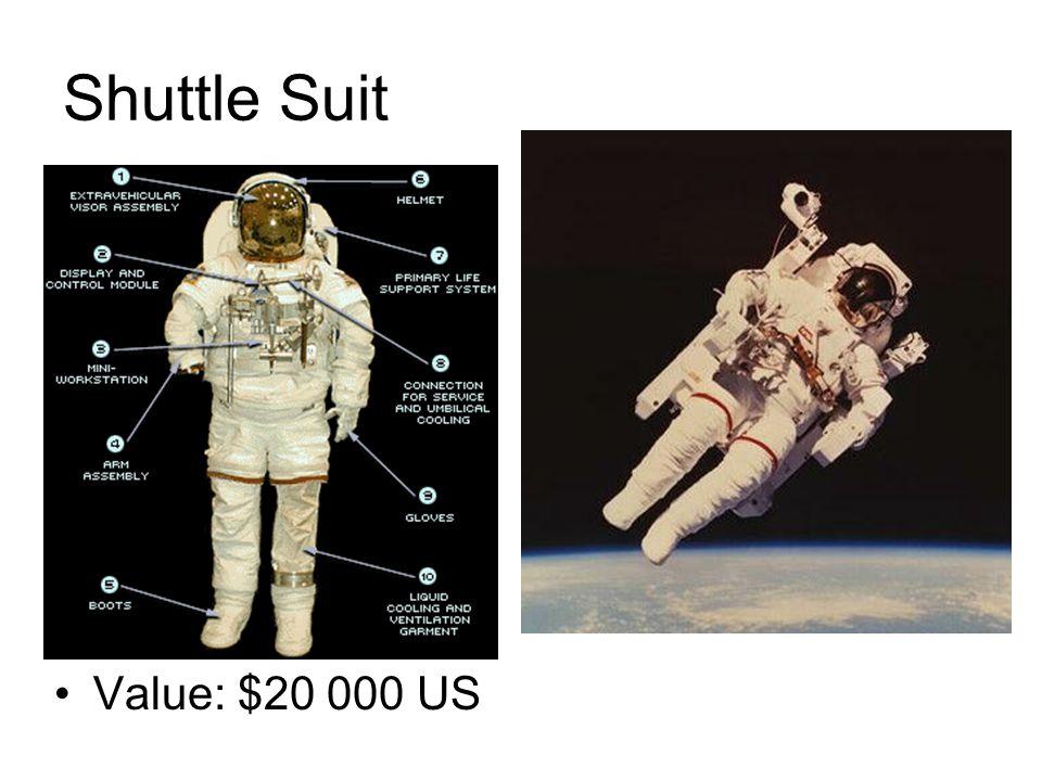 Shuttle Suit Value: $20 000 US