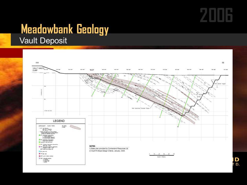 2006 Meadowbank Geology Vault Deposit