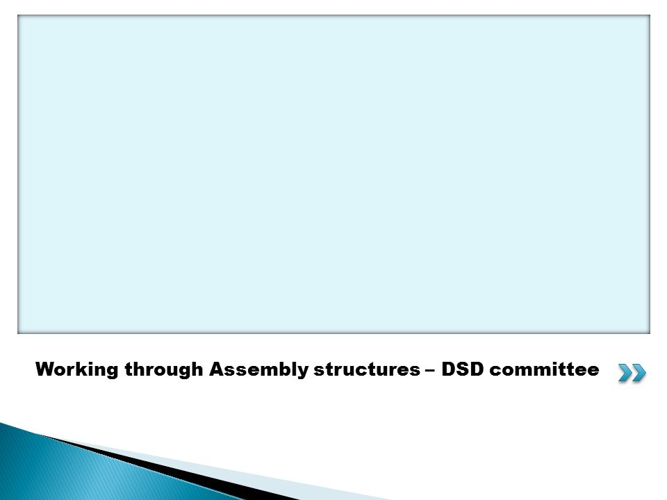 Working through Assembly structures – DSD committee