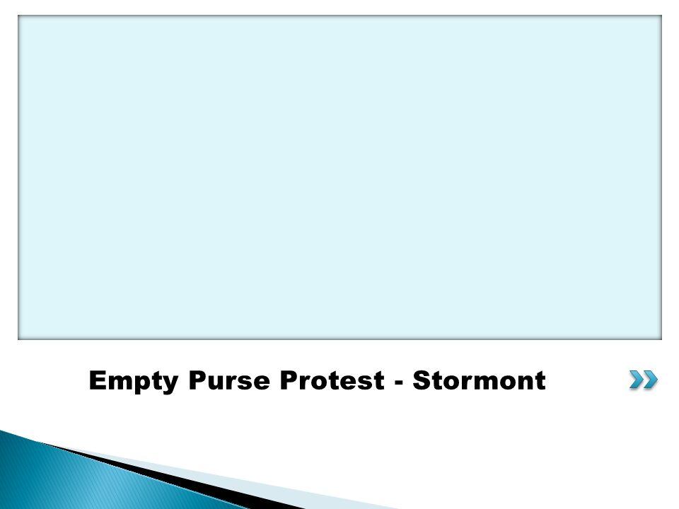 Empty Purse Protest - Stormont