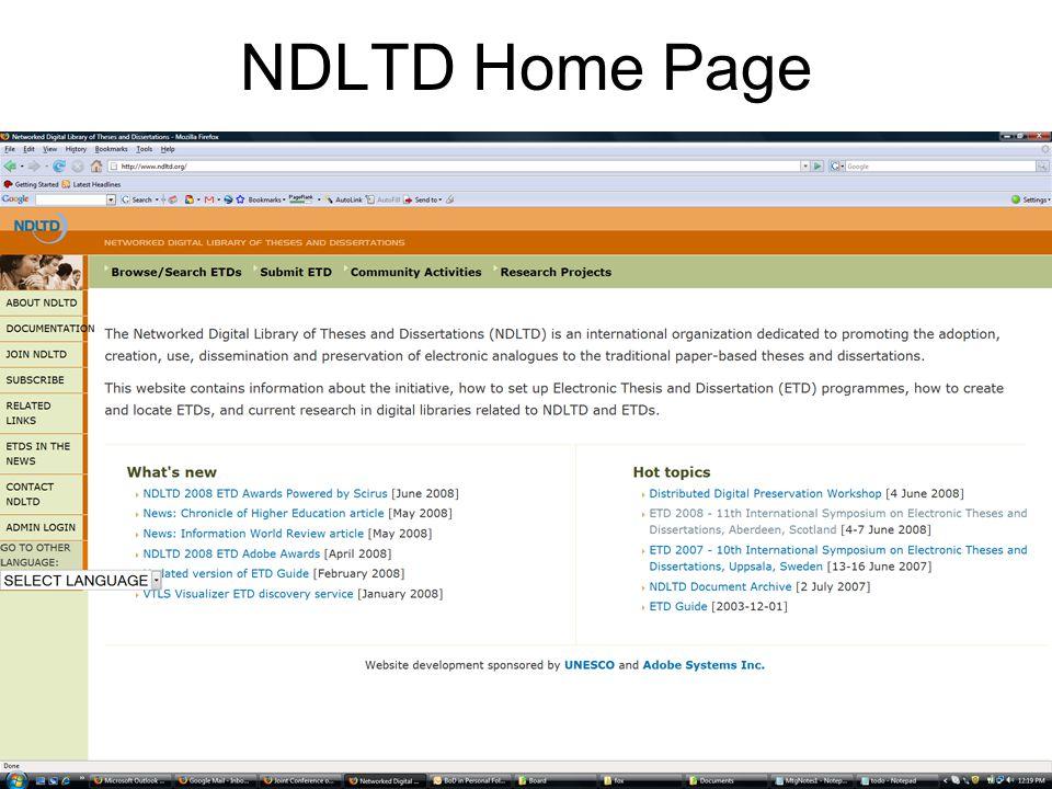 NDLTD Home Page
