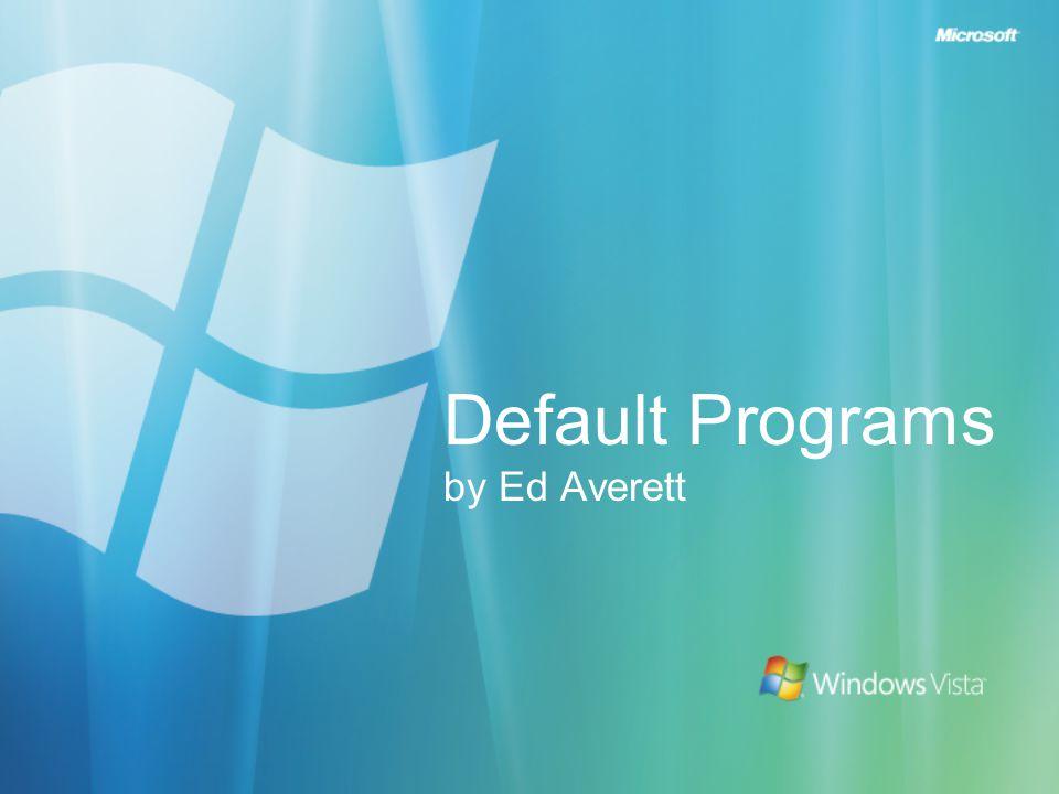 Default Programs Design Flow