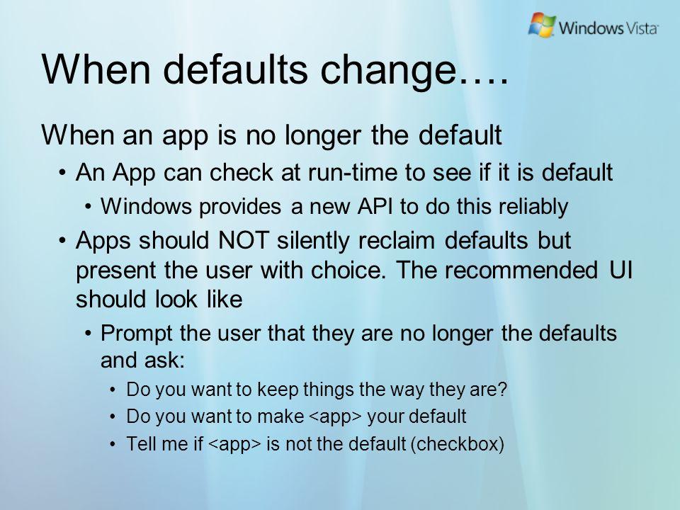 When defaults change….