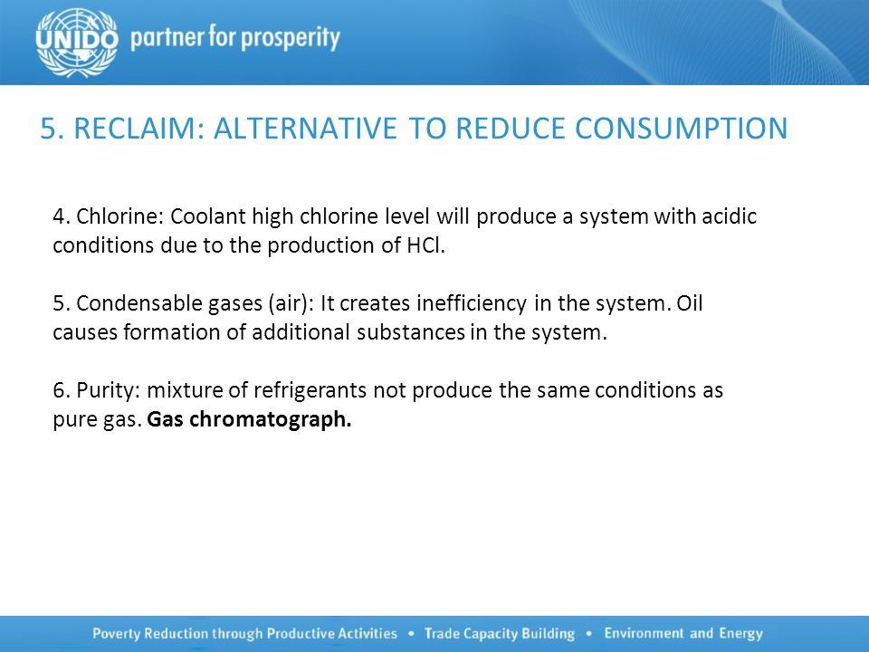 5. RECLAIM: ALTERNATIVE TO REDUCE CONSUMPTION 4.