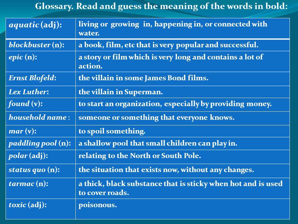 Glossary.