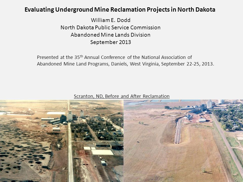 About the North Dakota Public Service Commission and the Abandoned Mine Lands Division The Board of Railroad Commissioners was established by Dakota Territory in 1885.