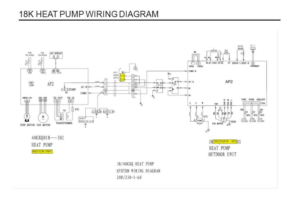 . 18K HEAT PUMP WIRING DIAGRAM