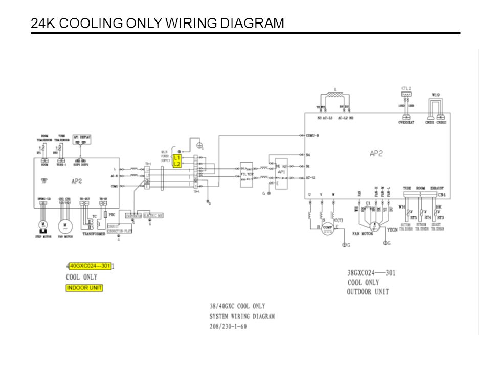 . 24K COOLING ONLY WIRING DIAGRAM