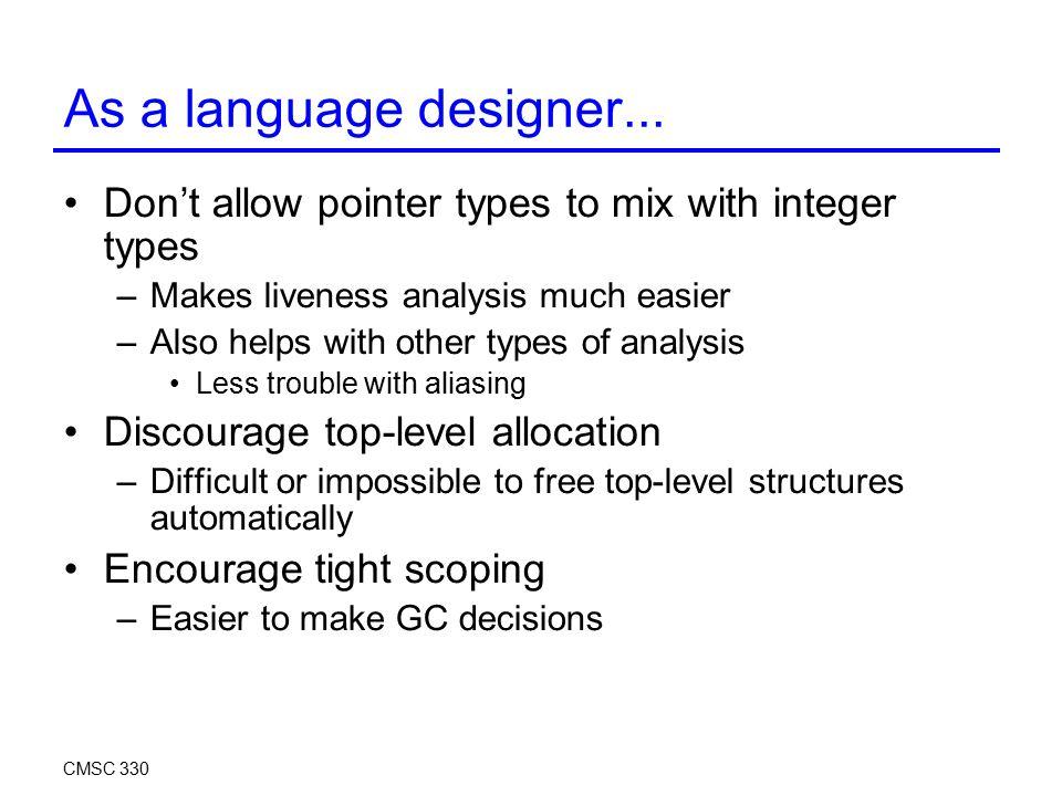 As a language designer...