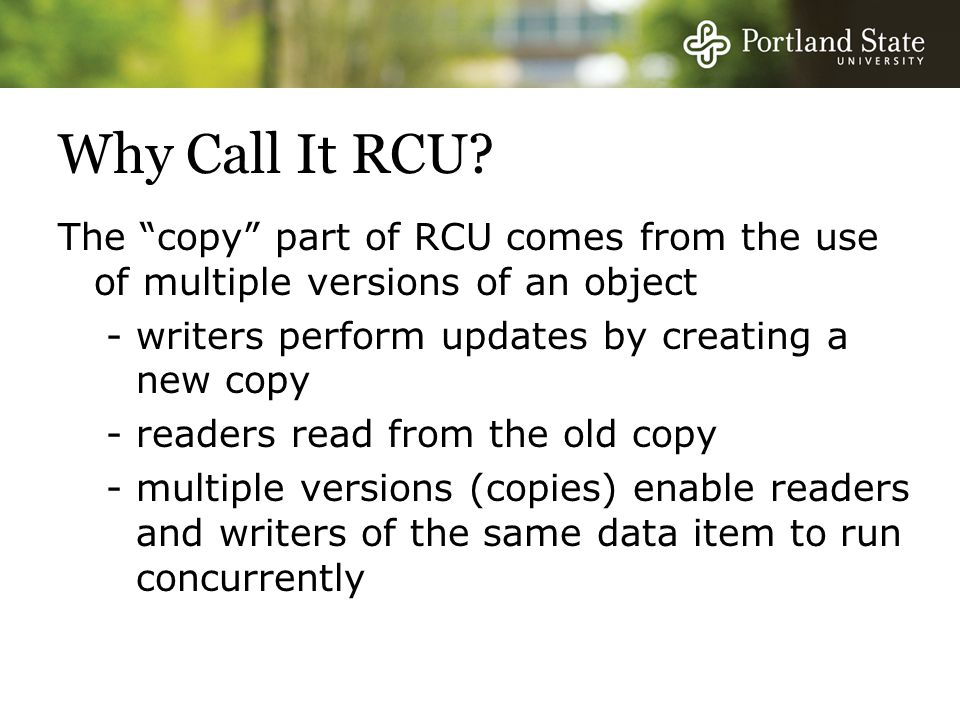 Why Call It RCU.