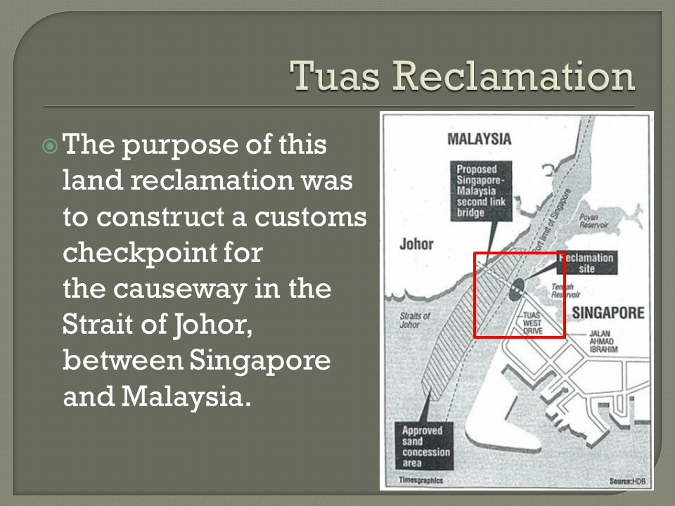  Case of territorial dispute  Arose due to Malaysia's Point 20 sliver