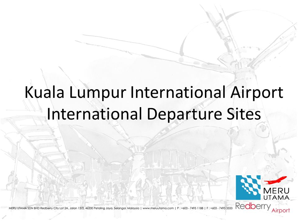 Kuala Lumpur International Airport International Departure Sites