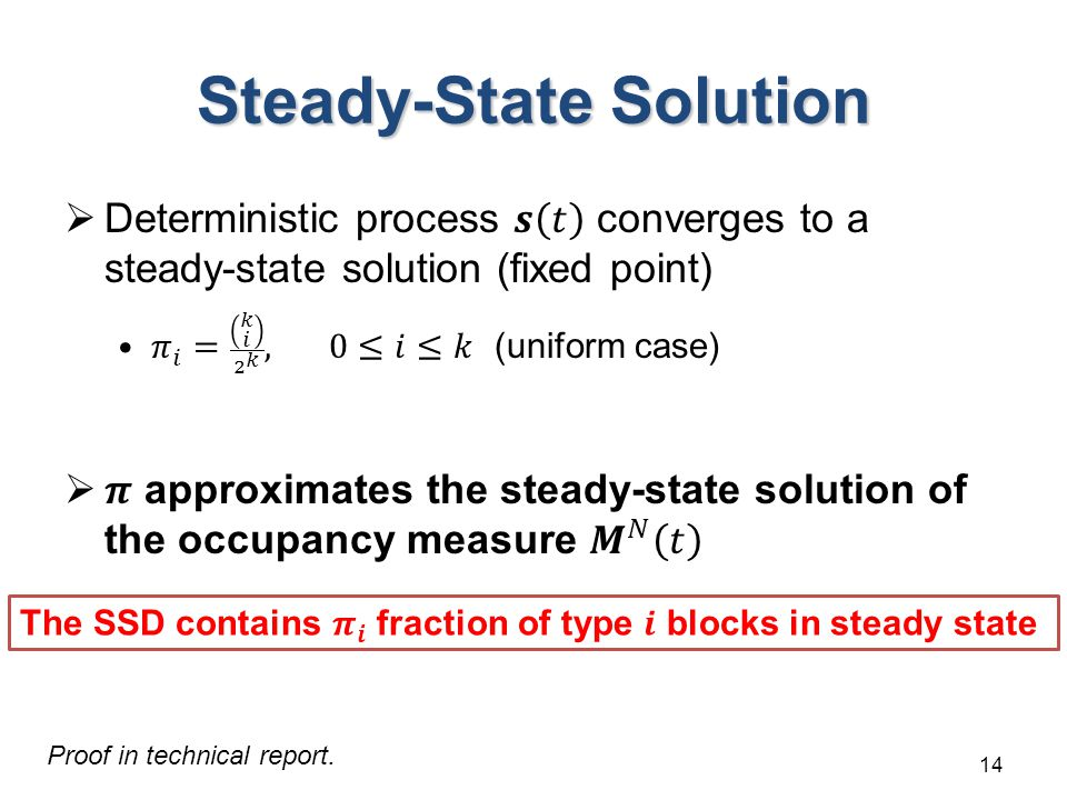 Steady-State Solution 14 Proof in technical report.