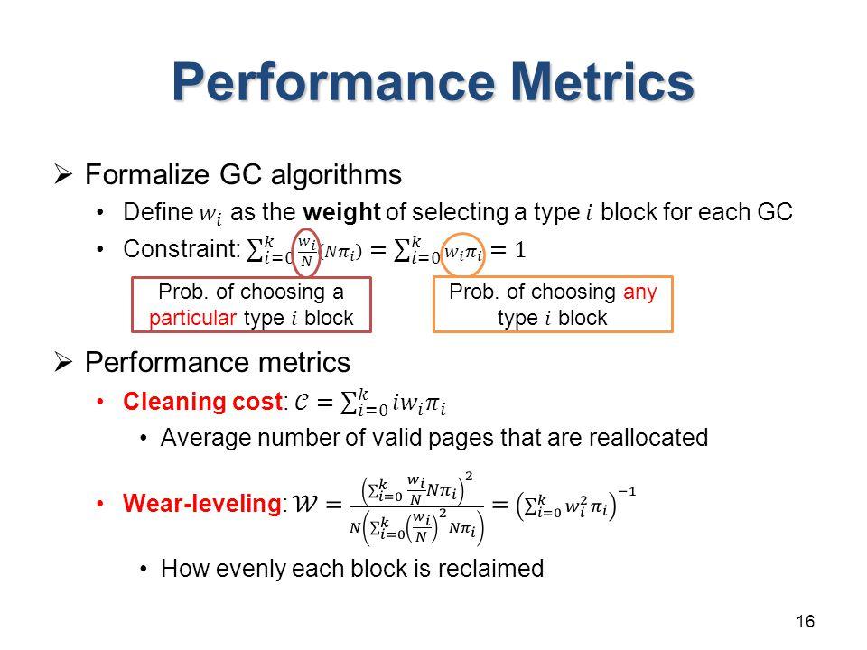 Performance Metrics 16