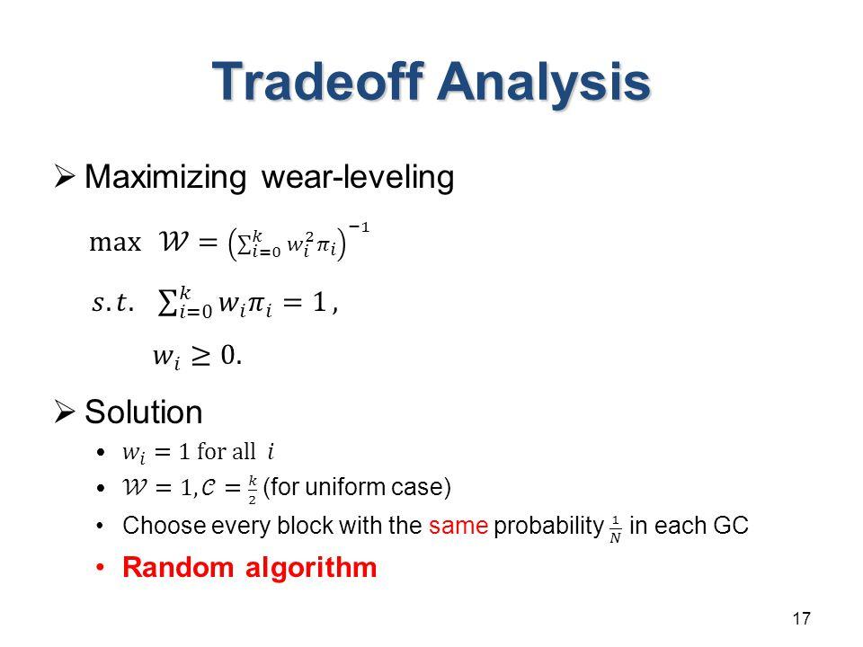Tradeoff Analysis 17