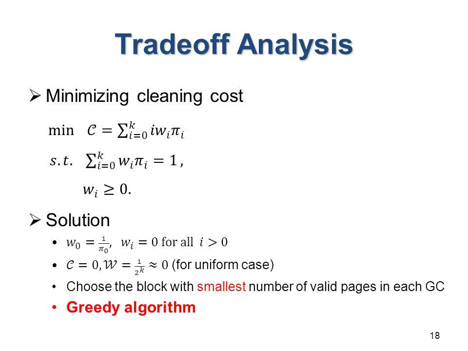Tradeoff Analysis 18
