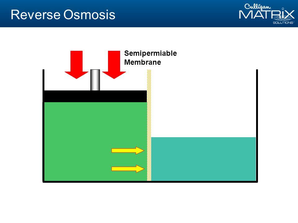 Semipermiable Membrane Reverse Osmosis