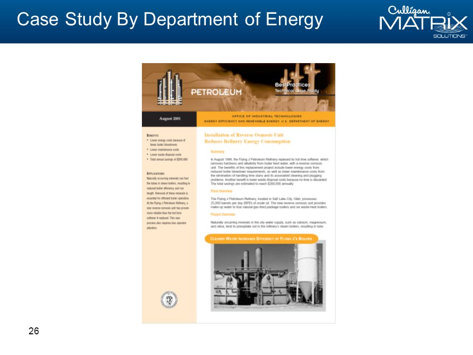 26 Case Study By Department of Energy