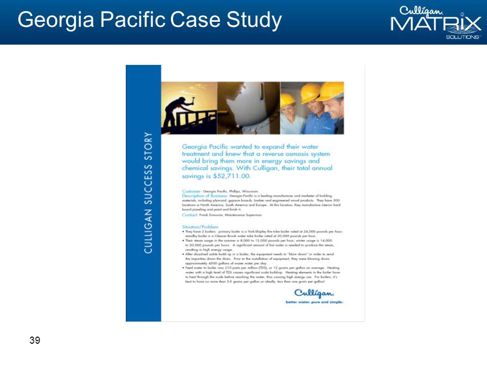 39 Georgia Pacific Case Study