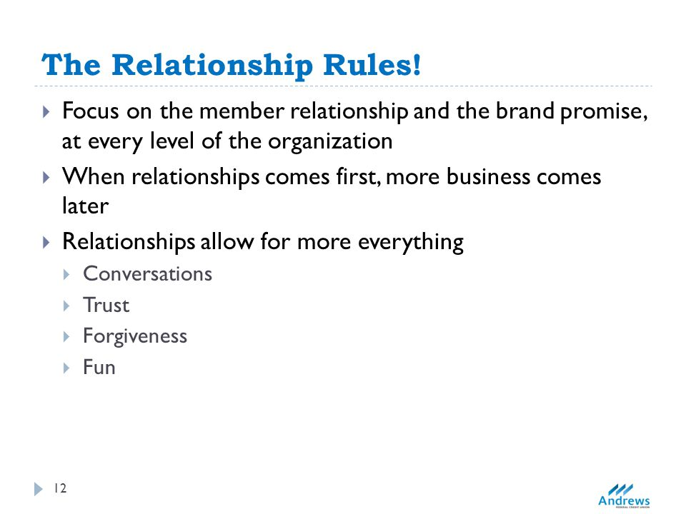 The Relationship Rules.