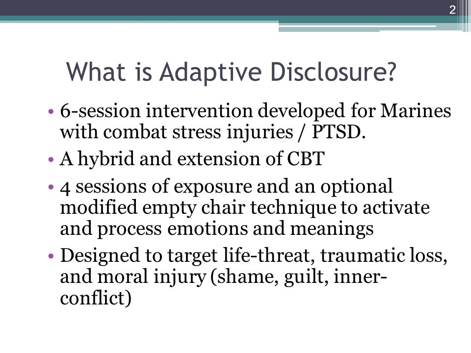 What is Adaptive Disclosure.