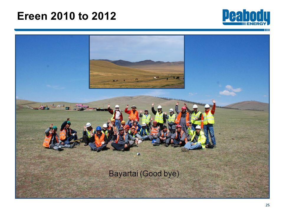 25 Ereen 2010 to 2012 Bayartai (Good bye)