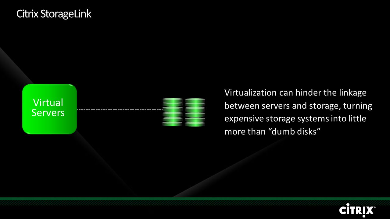 """Virtualization can hinder the linkage between servers and storage, turning expensive storage systems into little more than """"dumb disks"""" Virtual Server"""