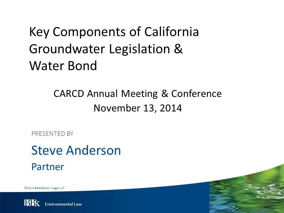 Environmental Law Groundwater Legislation On September 16, 2014, Gov.