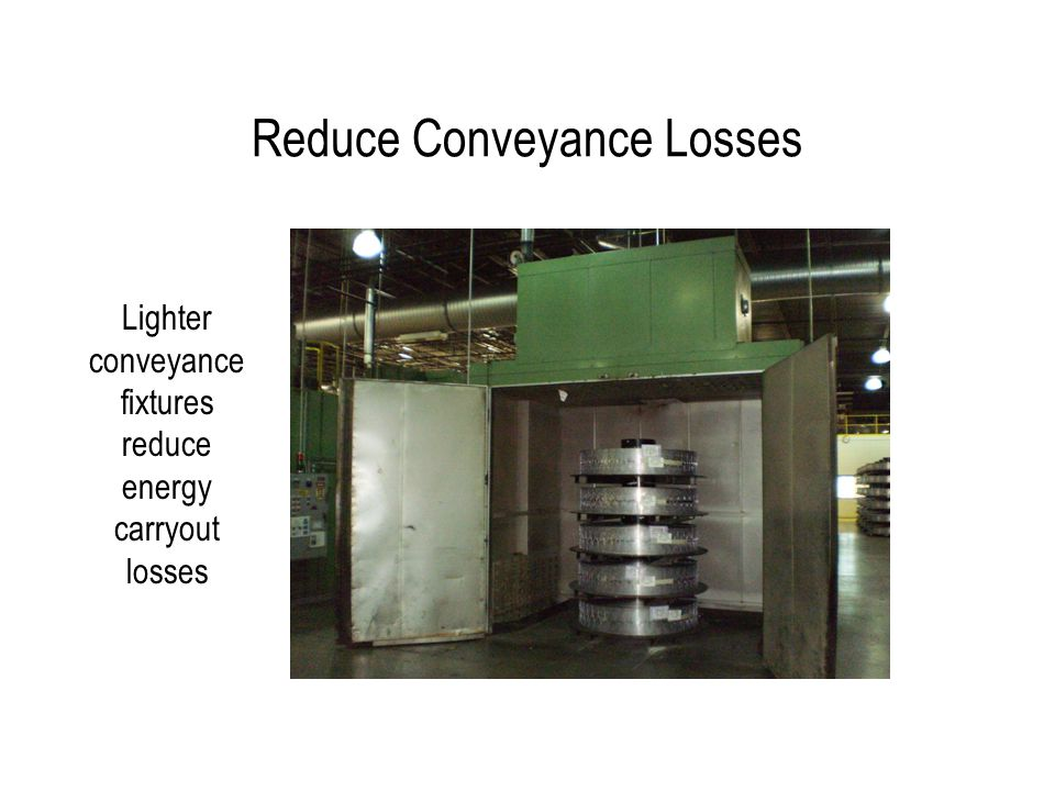 Reduce Conveyance Losses Lighter conveyance fixtures reduce energy carryout losses